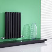 Milano Aruba - Black Horizontal Designer Radiator - 635mm x 415mm (Double Panel)