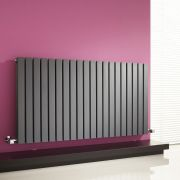 Milano Capri - Anthracite Flat Panel Horizontal Designer Radiator - 635mm x 1180mm (Double Panel)