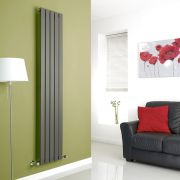 Milano Alpha - Anthracite Vertical Flat Panel Designer Radiator - 1780mm x 350mm