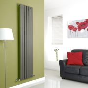 Milano Alpha - Anthracite Vertical Flat Panel Designer Radiator - 1780mm x 420mm