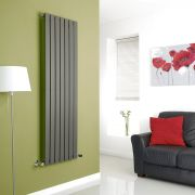 Milano Anthracite Vertical Single Slim Panel Designer Radiator 1600mm x 490mm