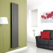 Milano Alpha - Anthracite Vertical Flat Panel Designer Radiator - 1780mm x 350mm (Double Panel)