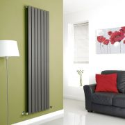 Milano Anthracite Vertical Double Slim Panel Designer Radiator 1780mm x 490mm