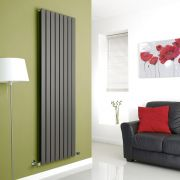 Milano Anthracite Vertical Double Slim Panel Designer Radiator 1780mm x 560mm
