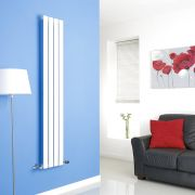 Milano White Vertical Single Slim Panel Designer Radiator 1600mm x 280mm