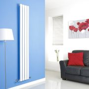 Milano Alpha - White Vertical Flat Panel Designer Radiator - 1780mm x 280mm