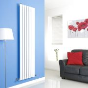 Milano Alpha - White Vertical Flat Panel Designer Radiator - 1780mm x 490mm