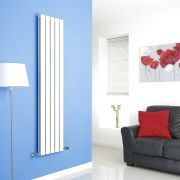 Milano Alpha - White Vertical Flat Panel Designer Radiator - 1600mm x 350mm (Double Panel)