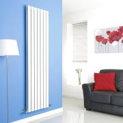 Milano Alpha - White Vertical Flat Panel Designer Radiator - 1780mm x 490mm (Double Panel)