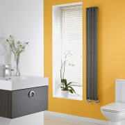 Milano Aruba Slim - Anthracite Vertical Space-Saving Designer Radiator - 1600mm x 236mm