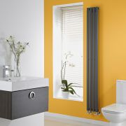 Milano Aruba Slim - Anthracite Space-Saving Vertical Designer Radiator - 1780mm x 236mm