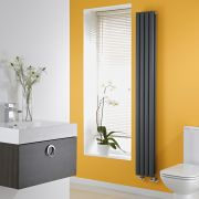 Milano Aruba Slim - Anthracite Space-Saving Vertical Designer Radiator - 1780mm x 236mm (Double Panel)