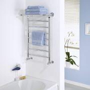 Milano Pendle - Chrome Heated Towel Rail with Heated Shelf 794mm x 532mm