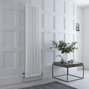 Milano Windsor - Traditional White Vertical Column Radiator - 1800mm x 470mm (Double Column)