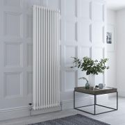 Milano Windsor - Traditional White Vertical Column Radiator - 1800mm x 560mm (Double Column)