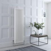 Milano Windsor - White Traditional Vertical Column Radiator - 1500mm x 473mm (Triple Column)