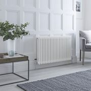 Milano Windsor - White Traditional Horizontal Column Radiator - 600mm x 990mm (Triple Column)