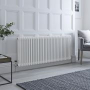 Milano Windsor - Traditional White Horizontal Column Radiator - 600mm x 1470mm (Triple Column)