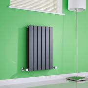 Milano Alpha - Anthracite Horizontal Double Slim Panel Designer Radiator 635mm x 420mm