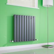 Milano Alpha - Anthracite Horizontal Flat Panel Designer Radiator - 635mm x 630mm