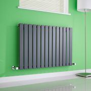 Milano Alpha - Anthracite Horizontal Flat Panel Designer Radiator - 635mm x 980mm