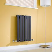 Milano Alpha - Black Flat Panel Horizontal Designer Radiator - 635mm x 420mm