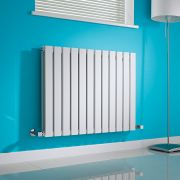 Milano Alpha - White Horizontal Flat Panel Designer Radiator - 635mm x 840mm (Double Panel)