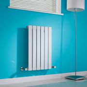 Milano Alpha - White Horizontal Single Slim Panel Designer Radiator 635mm x 420mm