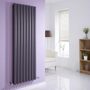 Milano Viti - Anthracite Vertical Diamond Double Panel Designer Radiator 1600mm x 560mm