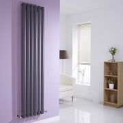 Milano Viti - Anthracite Vertical Diamond Panel Designer Radiator - 1780mm x 420mm