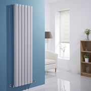 Milano Viti - White Vertical Diamond Double Panel Designer Radiator 1600mm x 420mm