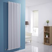Milano Viti - White Vertical Diamond Panel Designer Radiator - 1780mm x 560mm