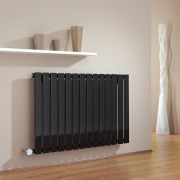 Milano Alpha - Black Horizontal Slim Panel Bluetooth Equipped Electric Designer Radiator - 635mm x 980mm