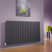 Milano Capri - Anthracite Horizontal Flat Panel Bluetooth Equipped Electric Designer Radiator - 635mm x 1180mm