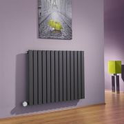 Milano Capri - Anthracite Flat Panel Bluetooth Equipped Electric Horizontal Designer Radiator - 635mm x 834mm