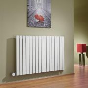 Milano Capri - White Horizontal Flat Panel Bluetooth Equipped Electric Designer Radiator - 635mm x 1000mm