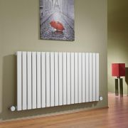 Milano Capri - White Horizontal Flat Panel Bluetooth Equipped Electric Designer Radiator - 635mm x 1180mm