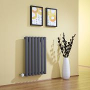 Milano Aruba - Anthracite Horizontal Electric Designer Radiator 635mm x 415mm