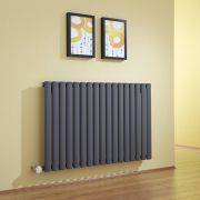 Milano Aruba - Anthracite Bluetooth Equipped Electric Horizontal Designer Radiator - 635mm x 1000mm