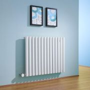 Milano Aruba - White Bluetooth Equipped Electric Horizontal Designer Radiator - 635mm x 834mm