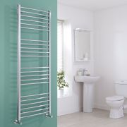Milano Eco - Chrome Curved Heated Towel Rail - 1600mm x 600mm