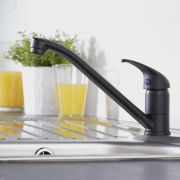 Milano Black Kitchen Mixer Tap with Swivel Spout