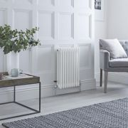 Milano Windsor - Traditional White 3 Column Radiator 600mm x 405mm (Horizontal)