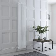 Milano Windsor - White Traditional Vertical Column Radiator - 1800mm x 360mm (Four Column)
