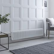 Milano Windsor - White Horizontal Traditional Column Radiator - 300mm x 1505mm (Four Column)