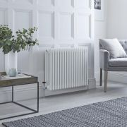 Milano Windsor - White Horizontal Traditional Column Radiator - 600mm x 785mm (Four Column)