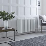 Milano Windsor - White Horizontal Traditional Column Radiator - 600mm x 1010mm (Four Column)