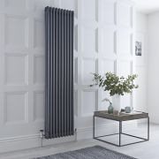 Milano Windsor - Anthracite Traditional Vertical Column Radiator - 1800mm x 450mm (Triple Column)