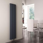 Milano Skye - Anthracite Vertical Designer Radiator - 1600mm x 280mm