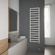 Terma ZigZag - White Vertical Heated Towel Rail 1780mm x 500mm